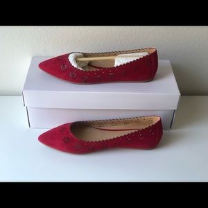 Joe's Jeans Red Minka Cut-out Flats